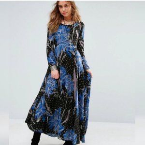 Free People First Kiss Floral Printed Maxi Dress
